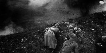 brancardiers français sous le feu allemand