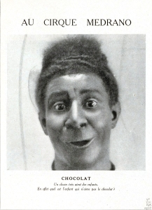 Un photo d'époque du vrai Chocolat , au Cirque Medrano