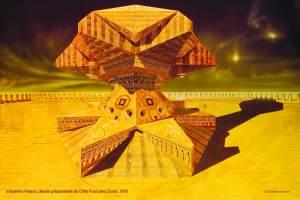 Déssin du Palace de l'Empereur de DUNE par Chris Foss (1975 )
