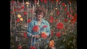 La femme du cinéaste , Maria Isabel dans on jardin...