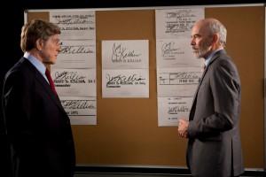 Dan Rather (Robert Redford )   face à l'authetification des documents