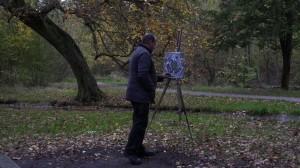 Peintre amateur   qui trouve son inspiration dans le bois...