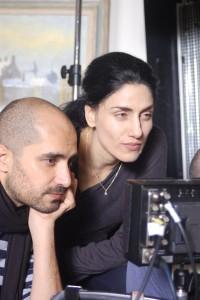 Ronit Elkabetz avec son frère Shlomi sur le torunage de Les Sept Jours