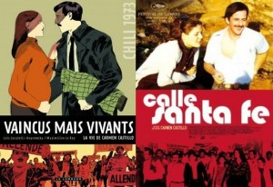 """Couverture B.D """" vaincus mais vivants"""" et Affiche du film Calle Santa Fe"""