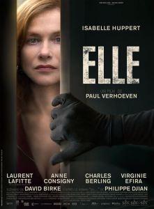 l'Affiche du film Elle de Paul Verhoevenr , sélectionné en compétition officielle