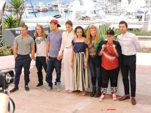 l'équipe du Film Américan Honey d'Andrea Arnold