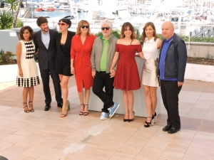 équipe du film Julieta de Pedro Almodovar