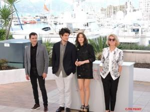 l'équipe du film Mal de Pierres de Nicole garcia