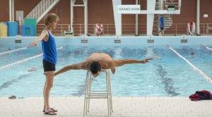 Leçon de natation :Forence Loiret-Caille et samir Guesmi.