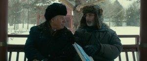 Le représentant de la compagnie d'ascensurs ( Pierre Curzi ) et Paul ( Thierry Lhermitte )
