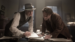 Maxwell Parkins ( Colin Fitrh ) et Thomas Wolfe ( Jude Law) en plein travail de correction
