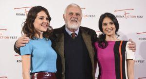 Linda Caridi , Maco Tullo Girodane et Vanessa Scalera lor se la présentation du film à Rome