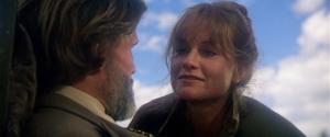 Isabelle Huppert et Chris Kristofferson dans une scène de La Porte du Paradis