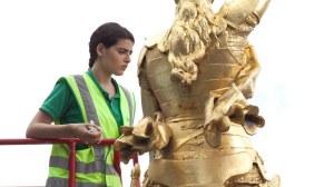 l'un des emblèmes visés : la statue de Jeanne d'Arc