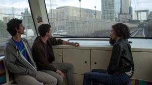 Dans le métro , en route vers la destination prévue...