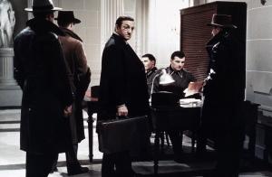 Lino Ventura dans une scène de l'Armée des Ombres de Jean-Pierre Melville.