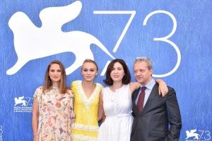 """Natalie Portman, Lily Rose Depp, Rebecca Zlotowski, Emmanuel Salinger - Photocall du film """"Planetarium"""" lors du 73ème Festival du Film de Venise, la Mostra. Le 8 septembre 2016"""
