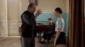 Polina avec son premier maître de danse