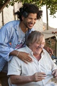 Sur le tournage : Rachid Djaïdani et Gérard Depardieu...