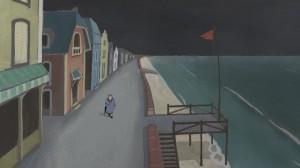 Luise  erre seule dans la ville abandonnée...
