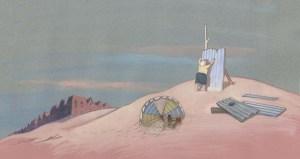 la construction de la  cabane sur la Dune...