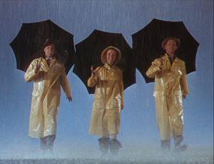Chantons sous la pluie de Stanley Donen ; Debbie Reunolds, Gene Kelley et Donlad O'connor