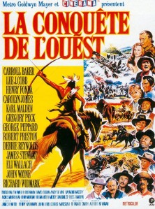 Affiche de la conquête de l'Ouest .