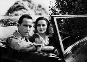 Humphrey Bogart et Michèle Morgan dans Passage  to Marseille  de