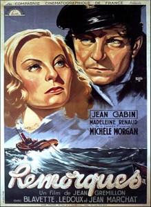 l'affiche du film Remorques de Jean Grémillon