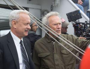 Photo de tournage : Tom Hanks et Clint Eastwood