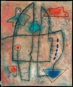 Une composition d'inspiration Miro signée Hergée. © HergéMoulinsart2016