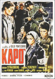 l'Affiche de Kapo de Gillo Pontecorvo