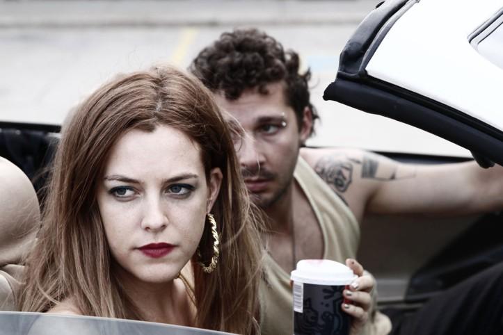 Krystal ( Riley Keough ) et Jake ( Shia LaBeouf )