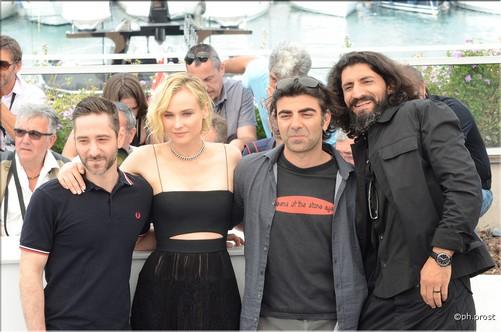 IN THE FADE - Léquipe du film Diane Kruger, Fatih Akin, Denis Moschitto, Numan Acar, Samia Muriel Chancrin (2)