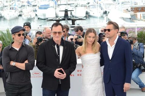 Cannes 2019 - Quentin Tarantino, Brad Pitt, David - Crédit Photo Philippe Prost