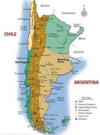 La Cordillère des songes - Carte Chili
