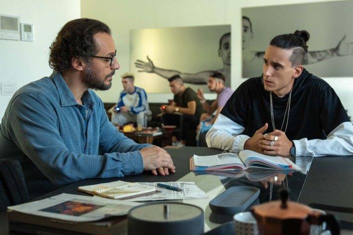 Vitorio , Le prof ( Stefano Accorsi) et Chritian Ferra ( Andrea Carpenzan - Crésit Photo : Destiny Films distribution-o
